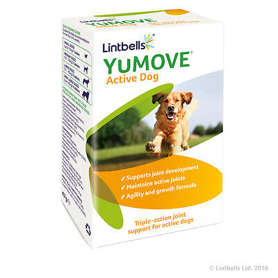 Lintbells Yumove Active Dog Joint Support Supplement Glucosamine 60 Tablets • 15.50£