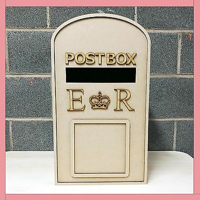 £45 • Buy XXL *Personalised* Wedding Post Box - Flat Pack Unpainted MDF For Cards