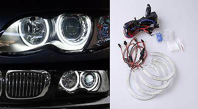 $69.99 • Buy NON-HID Halogen Headlight WHITE LED ANGEL EYES HALO RINGS FOR BMW 3 Series E46