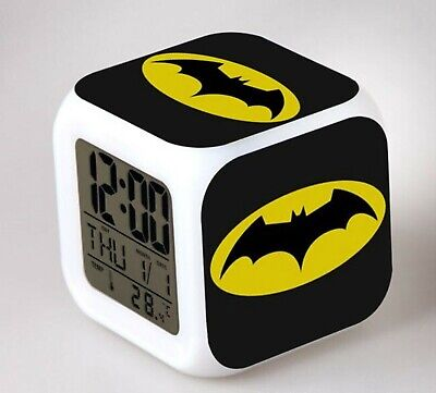 AU28 • Buy New Boys Children Batman LED Lightening Desk Alarm Clock Birthday Gift For Him