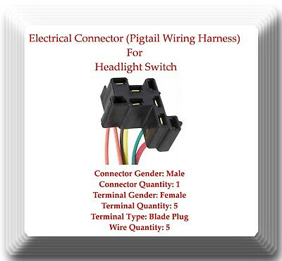 AU156.86 • Buy Pigtail Electrical Wire Harness Connector For Headlamp Switch DS155 Fits: GM