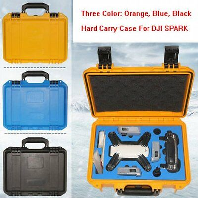 AU72.46 • Buy Strong Hardshell Case Waterproof Carrying Box For DJI Spark / Carry Bag - Black