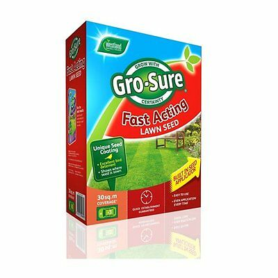 £18.18 • Buy Gro-sure Fast Acting Grass Lawn Seed, 30 Sq M, 900 G