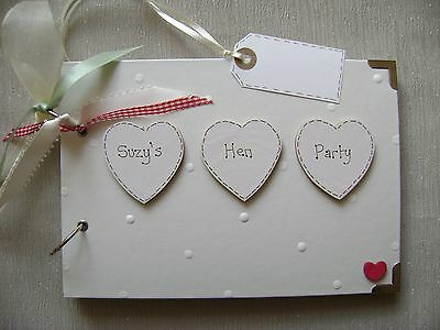 Personalised Hen Party .a5 Size Photo Album/scrapbook/memory Book. • 13.20£