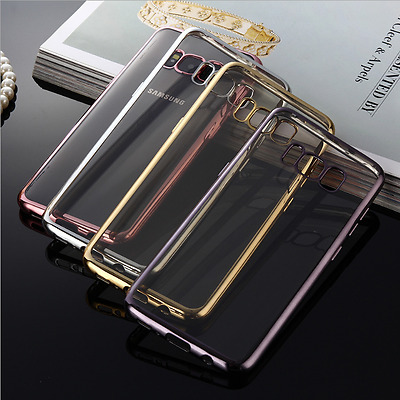 AU6.95 • Buy NEW Silicone Rubber Clear Case Cover For Samsung Galaxy S8/S8 Plus