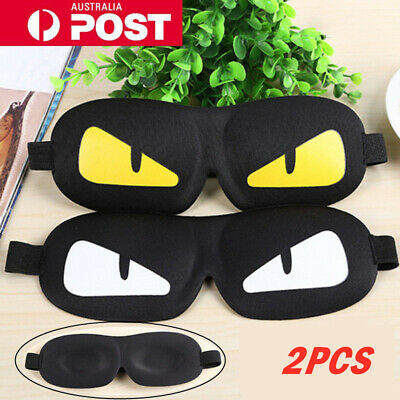 AU5.95 • Buy 3D Cute Sleeping Eye Mask Blindfold Sleep Travel Shade Relax Cover Light Blinder