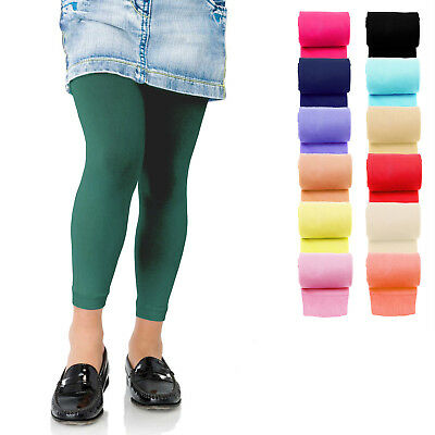 £3.49 • Buy KIDS FASHION Girls Soft Microfiber FOOTLESS Tights 60 Denier Colours Years 4-13