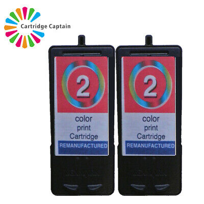 2 X No 2 Colour Ink Cartridge For Lexmark X3480 X2580 • 16.49£
