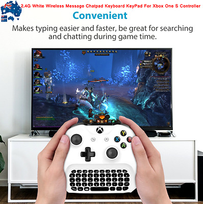 AU42.99 • Buy AU 2.4G White Wireless Message Chatpad Keyboard KeyPad For Xbox One S Controller