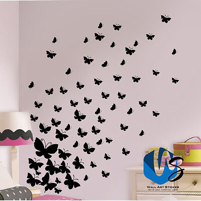 Various Size Butterfly Wall Art Stickers Vinyl Wall Decals Room For Baby Nursery • 2.69£