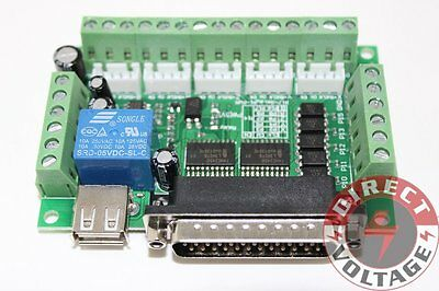 $13.99 • Buy 5 Axis CNC Interface Adapter Breakout Board For Stepper Motor Driver Mach3 W/USB