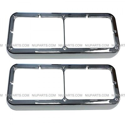$ CDN35.09 • Buy Bezel Chrome Pair (Fit:  Kenworth T400 T600 T800 W900B W900L, Peterbilt 378 379)