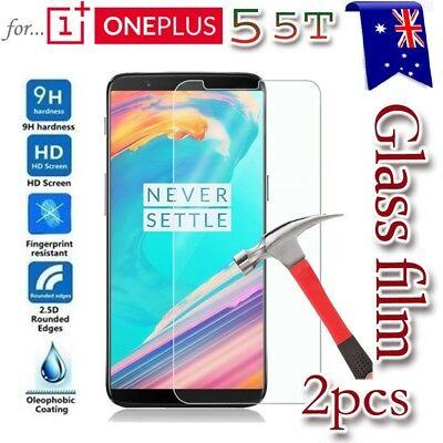 AU4.90 • Buy 2X Oneplus 5 Tempered Glass /Plastic Screen Protector Guard For One Plus 5