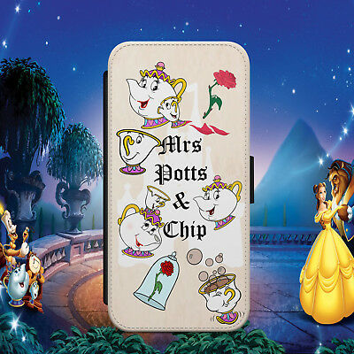 Mrs Potts Chip Beauty And Beast Flip Wallet Phone Case For Iphone Samsung Huawei • 8.99£