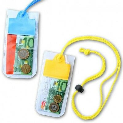 Waterproof Pouch Neck Wallet String Pool Money Pouches Safe Dry Holidays • 3.49£