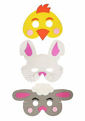 Easter EVA Foam Mask For Children To Make Decorate And Wear Pack Of 3 • 5.46£
