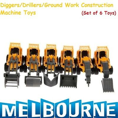 AU31.95 • Buy CONSTRUCTION PARTY FAVOURS TOY VEHICLES TRUCKS TRACTOR DIGGERS (PACK OF 6) Gift