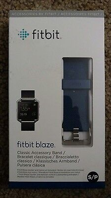 $ CDN20.73 • Buy New Fitbit Blaze Classic Accessory Band - Replacement Band Navy - Small