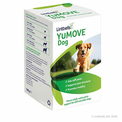 Lintbells YuMove Yumove Joint Support Stiff Old Dogs Glucosamine 120 Tablets • 25.99£