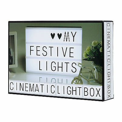 New A4 Light Up Letter Box Led Sign Party Outdoor Wedding Plaque Shop Cinema • 9.99£