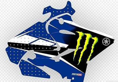 AU258.55 • Buy YAMAHA YZ125 2015 - 2019 Chad Reed Monster Energy Replica Graphics Kit