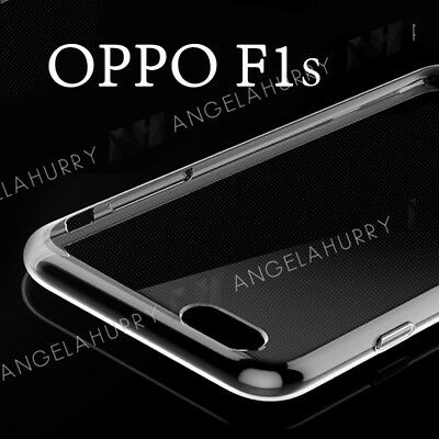 Oppo F1s A59 Case Clear Soft Gel TPU Flexible Clear Fitted Case Cover Skin Slim •