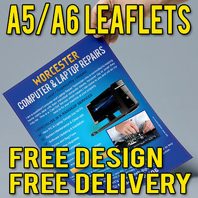 £75 • Buy A5 / A6 Leaflets And Flyers Printed On 150gsm With Free Artwork Graphic Design