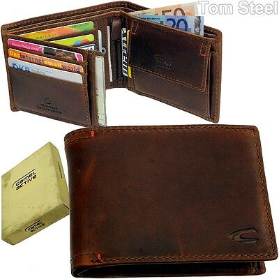 Camel Active Vintage Men Purse Across Purse Wallet Leather • 46.80£
