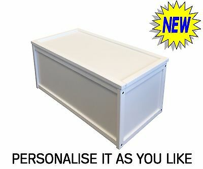 New White Wooden Toy Box Storage Unit Childrens Kids Chest Boxes Bench Strong • 34.99£