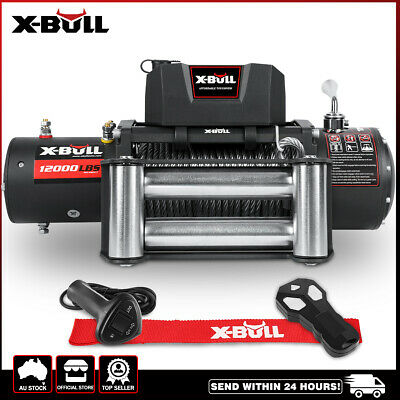 AU419 • Buy X-BULL Electric Winch 12000LBS/5454KGS/ 12V Wireless Remote Steel Cable 4WD 4X4