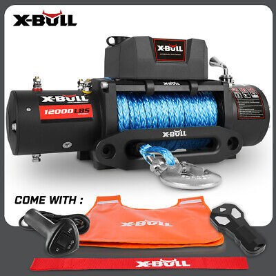 AU389 • Buy X-BULL Electric Winch 12000LBS/5454KGS/12V Wireless Remote Steel Cable 4WD 4X4