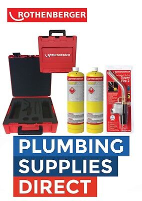 £105.99 • Buy Rothenberger Plumbers HotBox Tools Superfire2 Blow Torch / X2 Mapp