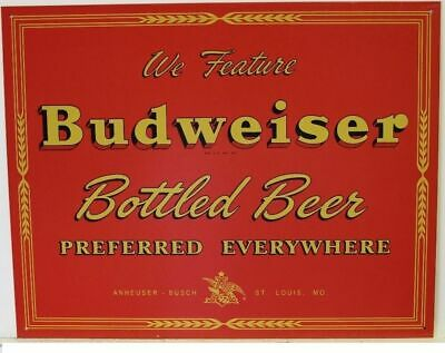 $ CDN25.75 • Buy Budweiser Bud Bottled Beer Tin Metal Advertising Sign Alcohol Bar NEW Made USA