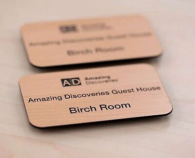 £2.49 • Buy Quality Engraved Name Badges For Office Restaurant Shop Club Pub School Hotel