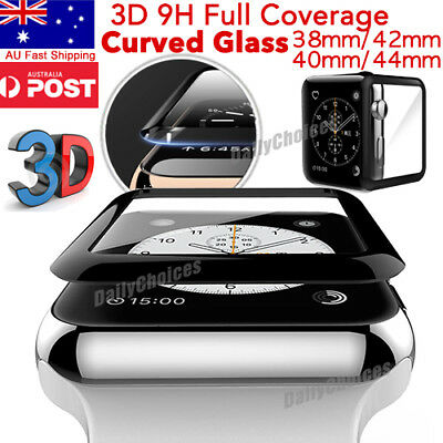 AU7.95 • Buy Apple Watch 5 3D Tempered Glass Full COVER Screen Protector IWatch 38/42/40/44mm