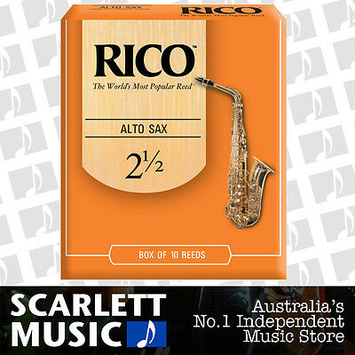 AU43.95 • Buy Rico Alto Sax Eb Saxophone 10 Pack Reeds Size 2.5 (2 1/2 - Two And A Half) 10PK
