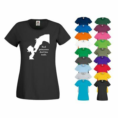 T-Shirt REAL PRINCESS Pony Horse Riding Jodhpur Breeches Boots Competition Top • 7.99£
