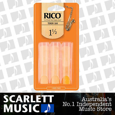 AU19.79 • Buy Rico Tenor Sax Saxophone Reeds 3 Pack Reed Size 1.5 3PK (1 1/2 - One And A Half)