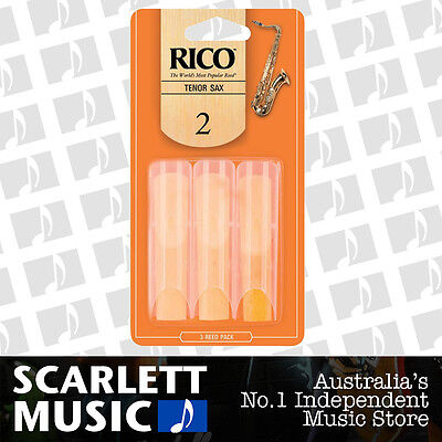AU19.95 • Buy Rico Tenor Sax Saxophone Reeds 3 Pack Reed Size 2 ( Two ) RKA0320 3PK