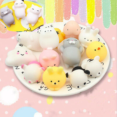 AU2.09 • Buy Soft Press Doll Japan Mochi Cat Rabbit Kawaii Stretch Squeeze Toy Squishy C