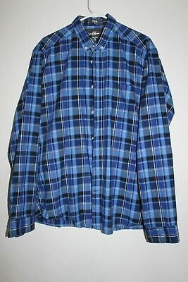 Label Of Graded Goods LOGG Made By H.M. Mens XL Button Front Long Sleeve Blue • 14.25$