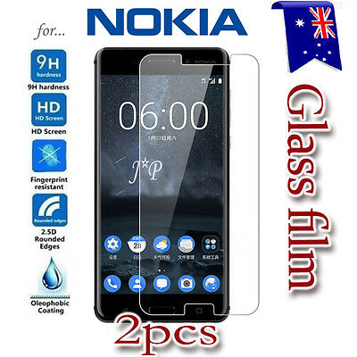AU3.49 • Buy 2X Nokia 3 3.2 4.2 5 6 6.1 7 Plus 8 Tempered Glass Screen Protector Film Guard