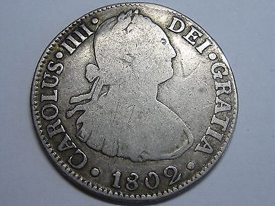 $ CDN58 • Buy 1802 Mexico 2 Real Charles Iv Spanish Colonial Spain Silver Coin