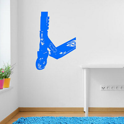 £13.43 • Buy Stunt Scooter Kids Children Sport Street Ride Wall Stickers Decal DIY Deco A103