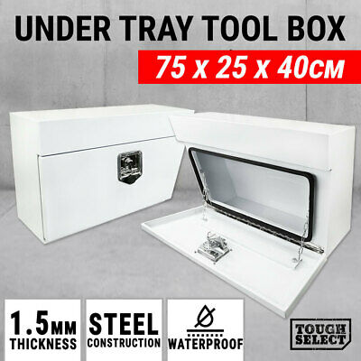 AU239 • Buy Under Tray Tool Box Pair Set Ute White Steel Toolbox Truck Undertray Underbody