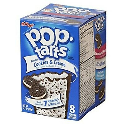 Kellogg's Pop Tarts Frosted Cookies & Creme 400g • 7.99£