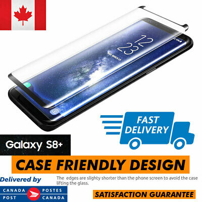 $ CDN6.99 • Buy Case Friendly Samsung Galaxy S8+ Plus Full Cover Tempered Glass Screen Protector