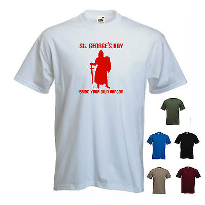 'St. George's Day, Bring Your Own Dragon' Mens St Georges/  England T-shirt  • 11.69£