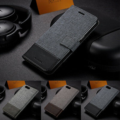 AU7.06 • Buy For OnePlus 7T 7 Pro 6T 6 5T 3T Leather Case Denim Canvas Magnetic Wallet Cover