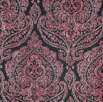 Black Pink Metallic Silver Damask Wallpaper Kenneth James Luxury Classic • 9.95£